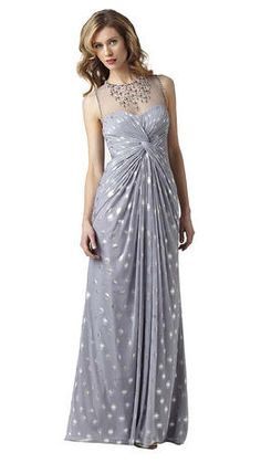This chiffon gown with ruched bodice and beaded neck-line would be fantastic as a #Mother of the Bride dress or as a #Mother of the Groom dress for a destination wedding. Also available in Sage/Gold and White /Gold.  The White and Gold would make an amazing party or going away dress for a Bride! #dressformotherofthebride #dressformotherofthegroom #motherofthebridedress #motherofthegroomdress #tcarolyn
