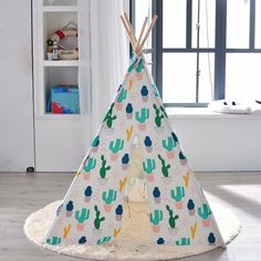 online shopping for 4 Wall Cactus Print Play Teepee Carrying Bag from top store. See new offer for 4 Wall Cactus Print Play Teepee Carrying Bag Kids Play Teepee, Toddler Play Tent, Portable Tent, Little Cottages, Black Rooms, Cactus Print, Carry On Bag, Panel Doors, 6 Years
