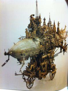 そして緻密に作られた飛行船模型作品! かっこよすぎるぜ! (And airship model works made in dense! too cool !)