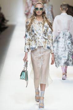 Fendi коллекция | Коллекции весна-лето 2017 | Милан | VOGUE