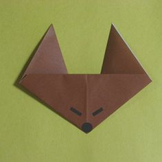 how to origami a fox face- easy origami for kid