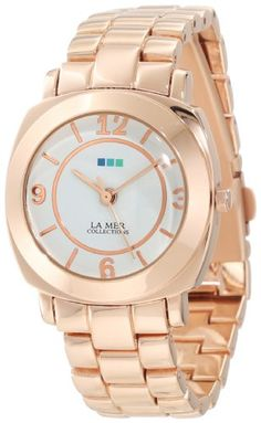Women's Wrist Watches - La Mer Collections Womens Rose Gold Mini Linked Odyssey Watch * You can get additional details at the image link. Odyssey Watch, Casual Watches, Cool Things To Buy, Stuff To Buy, Rolex Watches, Wrist Watches, Gold Watch, Bracelet Watch, Bling