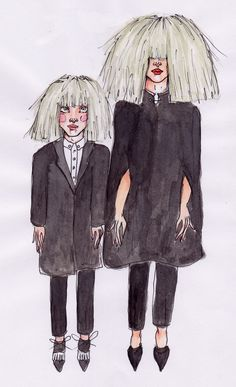 ' Sia & Maddie Ziegler Grammy Edition' by Blanche McKie, 2015, COPYRIGHT © of Blanche McKie