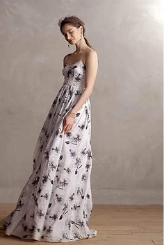 Fully Embroided Hibiscus Gown - anthropologie.com
