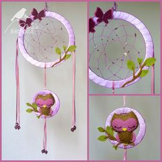 Items similar to Owl Dreamcatcher for kids - room decor - nursery mobile on Etsy Felt Crafts, Diy And Crafts, Crafts For Kids, Arts And Crafts, Dream Catcher Art, Home And Deco, Kids Room, Projects To Try, Nursery
