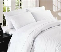 """500 Thread Count Egyptian Cotton Stripe White Queen Bed Skirt by Scala. $34.99. 1 Bed Skirt. Set Includes: 1 Full/Queen Size Bed Skirt 60"""" X 80"""" with 15"""" drop, Tailored style, split corners, Material: 100% Egyptian cotton,Sateen finish Bed Skirt, Single-ply, Care instructions: Machine washable."""