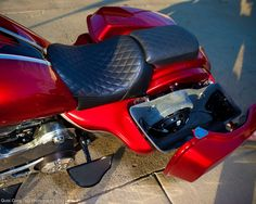 Patented Subwoofer Saddlebags done only by Misfitbaggers.com.  Have your bike hit like your car.  Nothing like it on the market!