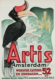 Artis Amsterdam 1920s Vintage Poster -