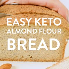 KETO ALMOND FLOUR BREAD is an easy low carb bread loaf recipe with a delicious bread texture and NO eggy flavor! Also, it is paleo and gluten free Almond Flour Bread, Almond Flour Recipes, Desserts With Almond Flour, Almond Flour Brownies, Pain Keto, Low Carb Recipes, Cooking Recipes, Bread Recipes, Sausage Recipes