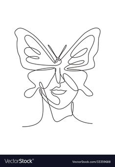 Ink Illustrations, Art Drawings Sketches, Graphic Illustration, Butterfly Art, How To Draw Butterfly, Butterfly Drawing Outline, Continuous Line Tattoo, Minimalist Drawing, Minimalist Style