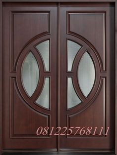 Jual Pintu Doubel Minimalis Kayu Jati jepara model terbaru 2016 harga murah. produk kusen pintu minimalis perabot jati mebel jepara dengan kode JMJ - 005