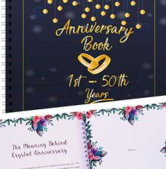 Wedding Anniversary Memory Book - A Hardcover Journal To Document Anniversaries From The To the Year - Unique Couple Gifts For Him & Her - Personalized Marriage Presents For Husband & Wife. Present For Husband, Presents For Wife, Gifts For Him, Unique Gifts For Couples, Couple Gifts, Anniversary Gifts For Couples, 50th Wedding Anniversary, Memory Books, Wedding Album