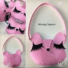 "21 Beğenme, 1 Yorum - Instagram'da Mirmiga Tasarım (@mirmigatasarim): ""#bag #pink #bags #felt #felts #feltbag #feltbags #handmade #handbag #craft #crafts #çanta #çantalar…"""