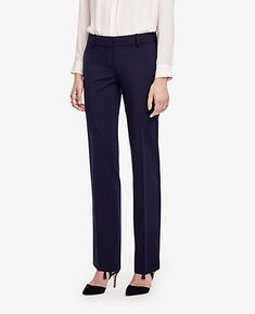 I wear a 12 petite with a 26 inseam. I like the professional look of these pants and the color. I love straight leg pants.