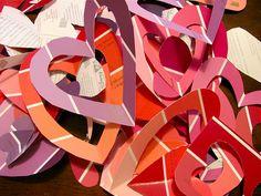 Paint Chip Valentine Cards
