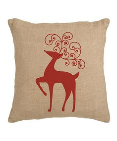 Take a look at this Reindeer Burlap Pillow Sham by Secretly Savvy on #zulily today!