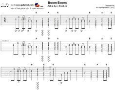 Boom Boom, John Lee Hooker - flatpicking blues tab #sheetmusic