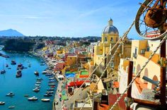 Turquoise seas surround an island filled with cottages of a hundred shades and hues.  This is the gem in the Mediterranean - an island called Procida.