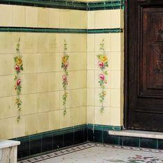 Azulejos antigos no Rio de Janeiro  Tijuca VI - rua Visconde de Cairú