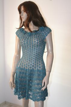 Crochet Dress Silk