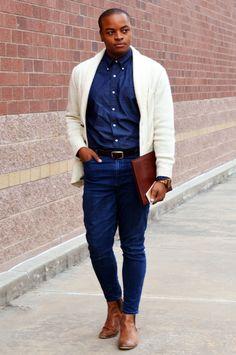 Jonathan McDougle Fashion/Lifestyle Website Instagram @JonathanMcDougle Outfit Details Watch: Jord Watch –> Giveaway Button-Up: The Gap Pants: The Gap Boots: Aldo Shoes Cardigan: 21Men