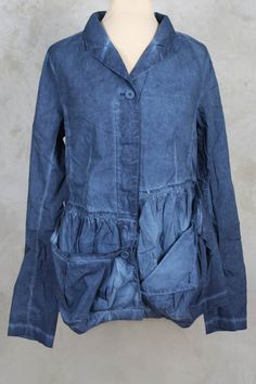 Jacket with Asymmetric Pockets in Blueberry - Rundholz Black Label