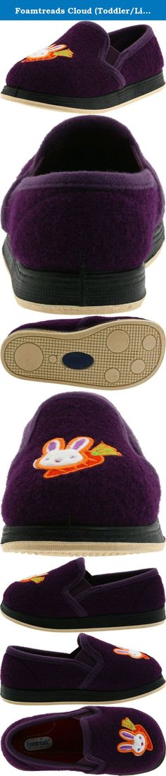 Foamtreads Cloud (Toddler/Little Kid),Purple,12 M US Little Kid. This outdoor-ready slipper from Foamtreads features embroidered accents and dual goring at the tongue.