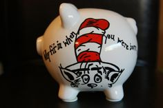 Hey, I found this really awesome Etsy listing at https://www.etsy.com/listing/173340177/dr-seuss-hand-painted-piggy-bank-with