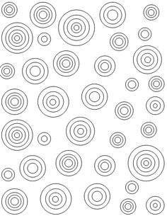 Target Circles Printable Coloring Sheet