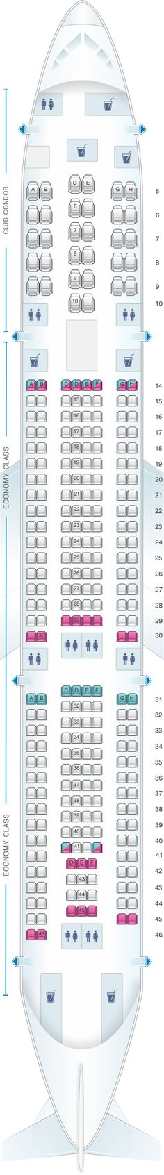 Seat Map Aerolineas Argentinas Airbus A340 300