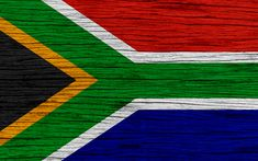 Download wallpapers Flag of South Africa, 4k, Africa, wooden texture, South African flag, national symbols, South Africa flag, art, South Africa