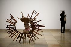 Ai Weiwei  '20 Chairs From The Qing Dynasty'