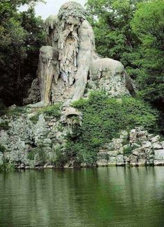 Over 2104 people liked this! Colosso dell'Appennino by Giambologna // sculpture // Florence // Italy // Europe // renaissance art // statue on a lake // old world art // travel destinations // dream vacations // places to go Places Around The World, Oh The Places You'll Go, Places To Travel, Travel Destinations, Places To Visit, Around The Worlds, Amazing Destinations, Beautiful World, Beautiful Places