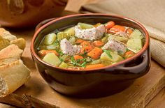 Turkey Vegetable Soup - You can even make a batch of this and freeze it to enjoy later on a cold winter night.