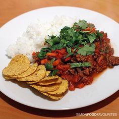 Chili con carne via Simon Food Favourites  http://simonfoodfavourites.blogspot.com.au/2012/08/hellofresh-globally-inspired-recipes.html#