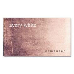 Creative Minimalist Aged Texture Look Professional Double-Sided Standard Business Cards (Pack Of 100). Make your own business card with this great design. All you need is to add your info to this template. Click the image to try it out!