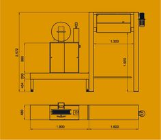 2200 Flejadora automática vertical con cabezal superior