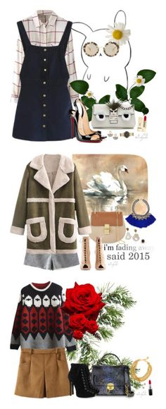 """""""BeautifulHalo II"""" by gabyidc ❤ liked on Polyvore featuring Fendi, Christian Louboutin, PUR, Miu Miu, Lizzie Fortunato, Marc by Marc Jacobs, bhalo, Leftbank Art, Chloé and Dara Ettinger"""