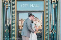 San Francisco City Hall Wedding Portraits taken by Fancy Fig Photography