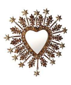 Look at this Jeweled Heart Mirror on #zulily today!