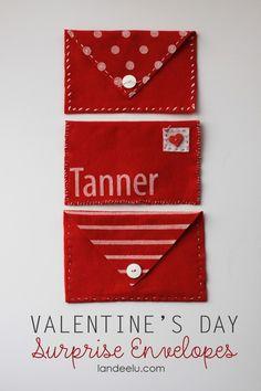 valentine's day felt envelopes valentine's day envelopes DIY Felt envelopes