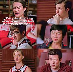 When Rachel couldn't sing Rachel Berry, Feeling Lost, Glee, Singing, Celebrity, Glamour, Feelings, Board, Movie Posters