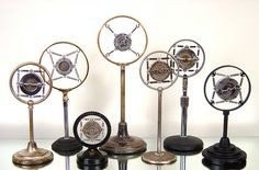 Antique 1920's-1930's Ring Microphones by lostfoundart, via Flickr