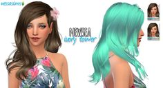 Nessa sims: Newsea`s Ivory Tower hair retextured  - Sims 4 Hairs - http://sims4hairs.com/nessa-sims-newseas-ivory-tower-hair-retextured/