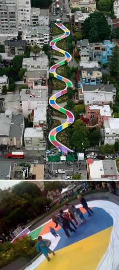 In honor of the board game's 60th anniversary in 2009, the crookedest street in the U.S., Lombard Street, San Francisco, was transformed into Candy Land!