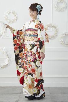 Traditional Kimono, Traditional Fashion, Traditional Dresses, Japanese Costume, Japanese Kimono, Japanese Outfits, Japanese Fashion, Kimono Tradicional, Cute Kimonos