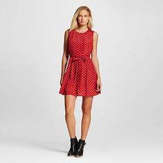 Women's Pleated Polka Dot Dress - K by Kersh