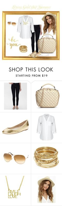 """""""Golden Days Of Summer #goldendaysofsummer #thehandbagmaven"""" by pam-arnold on Polyvore featuring Flying Monkey, Elorie, Tom Ford, ABS by Allen Schwartz, San Diego Hat Co., TheHandbagMaven and goldendaysofsummer"""