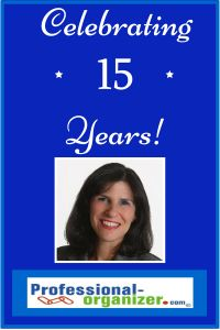 Ellen Delap celebrating 15 years of professional organizing and productivity consulting