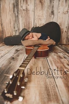 Guitar musician music newborn Debby Ditta Photography: Mason at 19 days old Newborn baby boy  Session by Tomball, Spring, Houston, Magnolia, Conroe, Montgomery, The Woodlands,Champions, Cypress, TX Maternity and Newborn Specialist Debby Ditta Photography